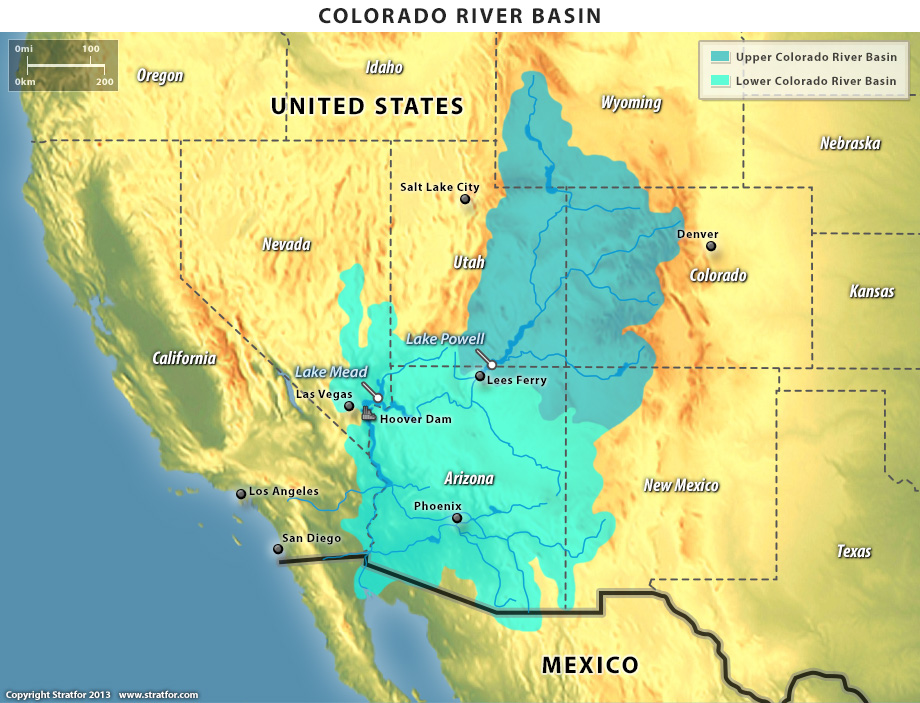 Map Of Colorado River In Arizona.Colorado River Basin Quenching The Thirst Of 30 Million People Azgs