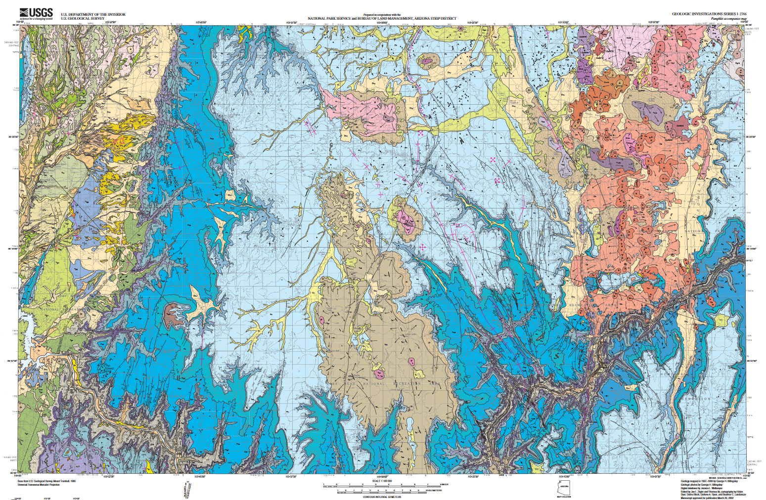 Geologic Map Of The Mount Trumbull Area Azgs