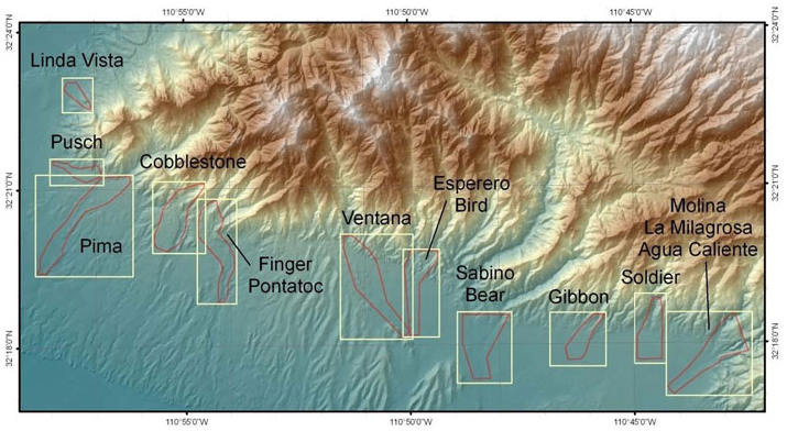 Figure 2. Mapped Debris Flow Deposit Locations