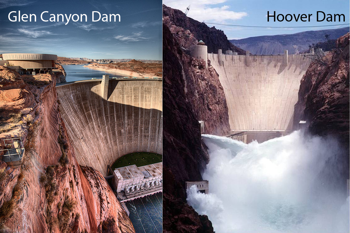 Arizona's major hydroelectric dams