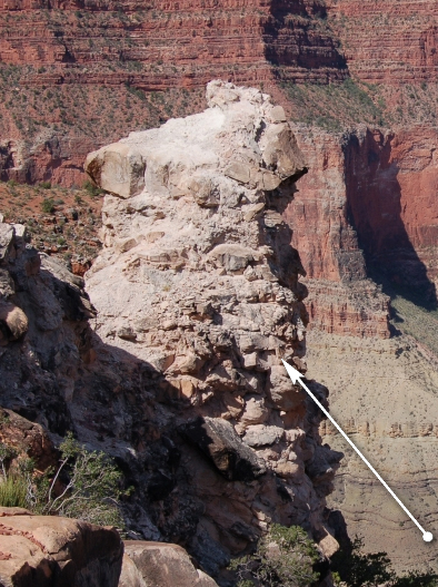 Breccia Pipe in Grand Canyon (B. Gootee)