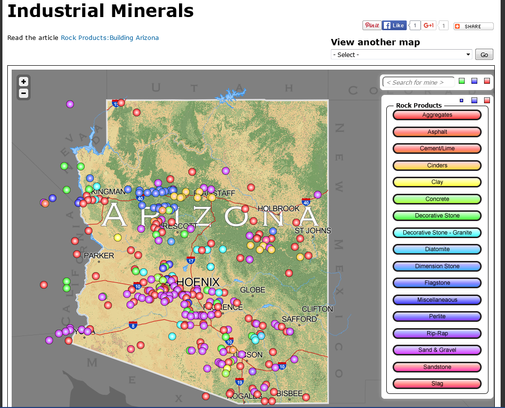 Mining industry: a selection of sites