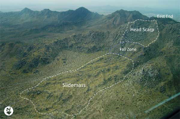 Figure 5. Oblique aerial photograph of the Marcus Landslide.