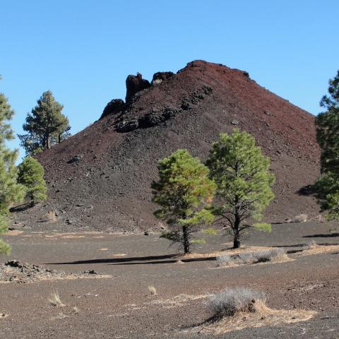 lava flow, Sunset Crater