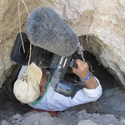 KUAT cameraman in earth fissure
