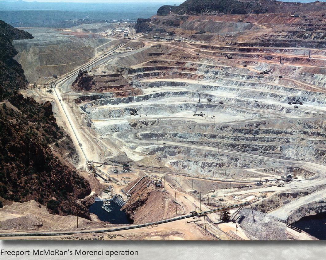 """Arizona 8/"""" x 10/""""  Open pit copper mine at Morenci"""