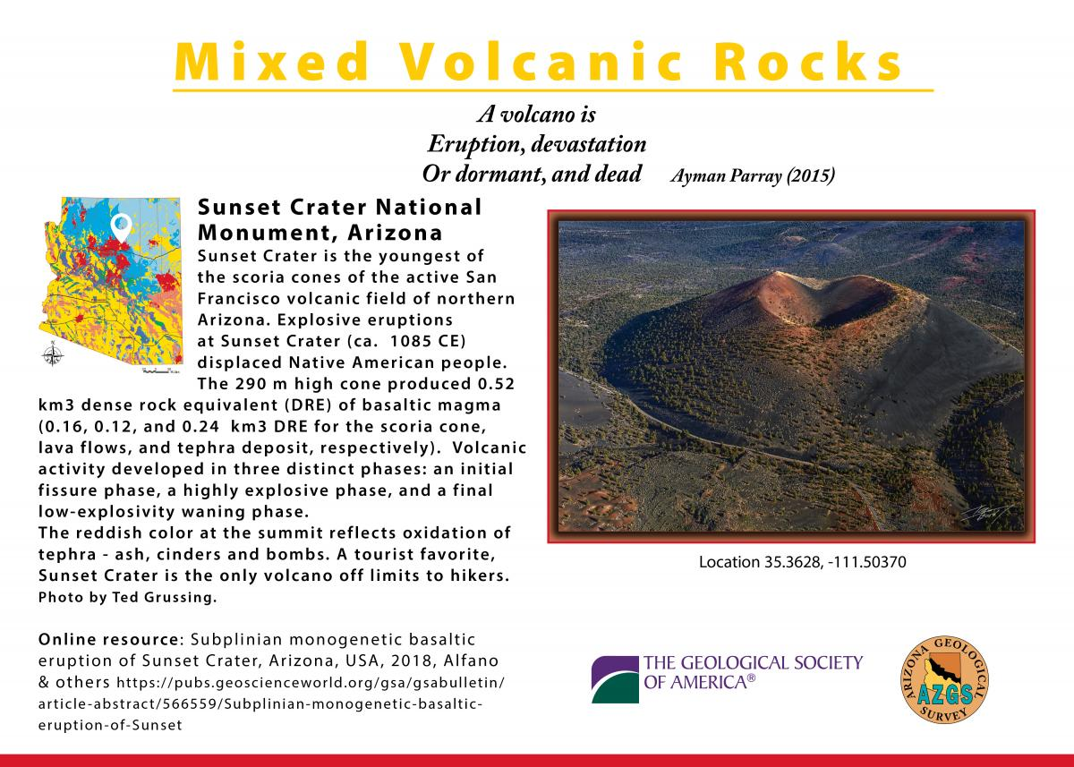 Sunset Crater postcard