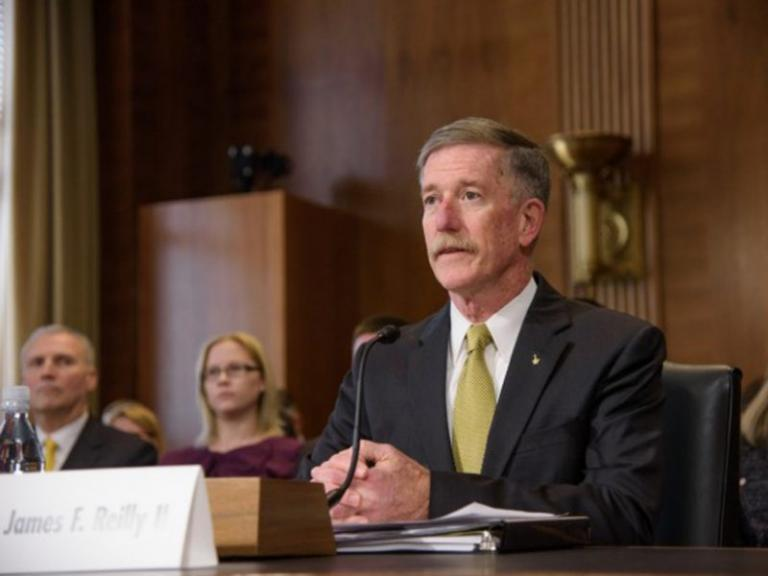 Dr. James Reilly testifying before Senate committee