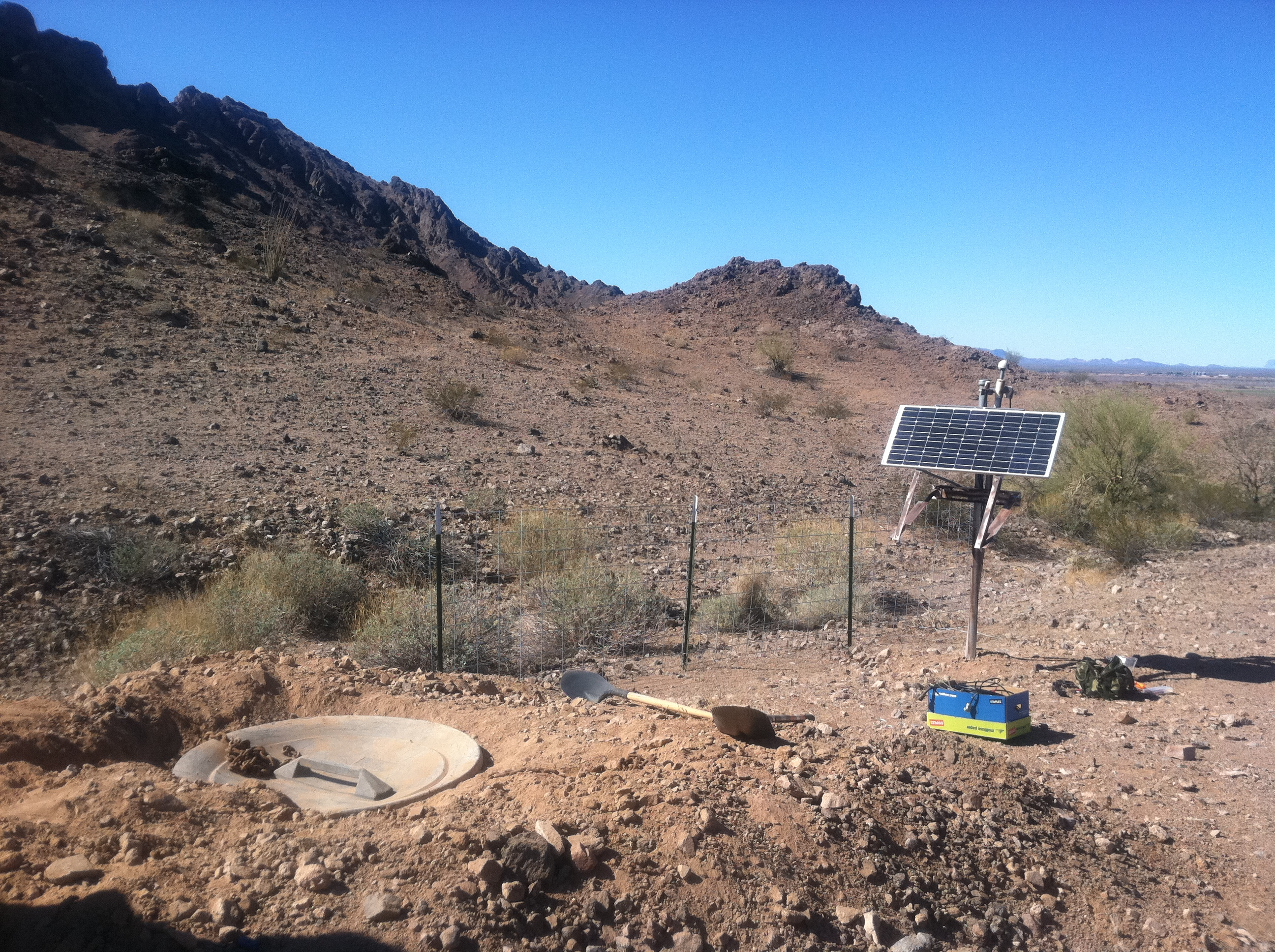 AZGS broadband seismic station near Yuma, Arizona