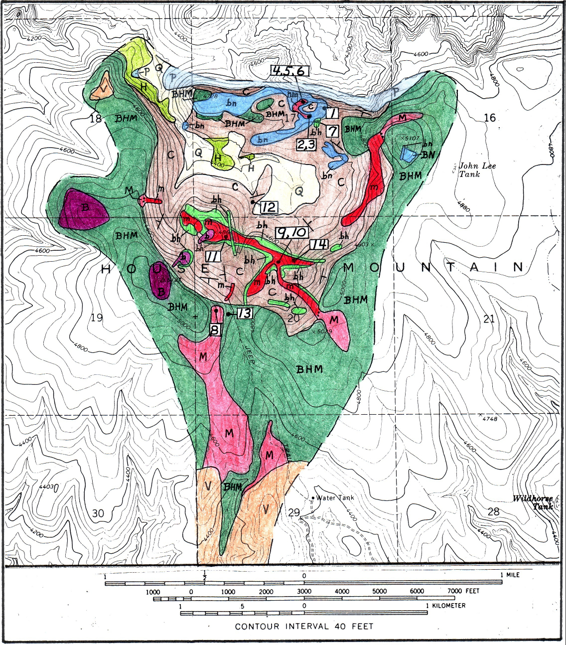 Map Of Arizona Including Sedona.Geologic Map Of House Mountain Sedona Arizona Azgs