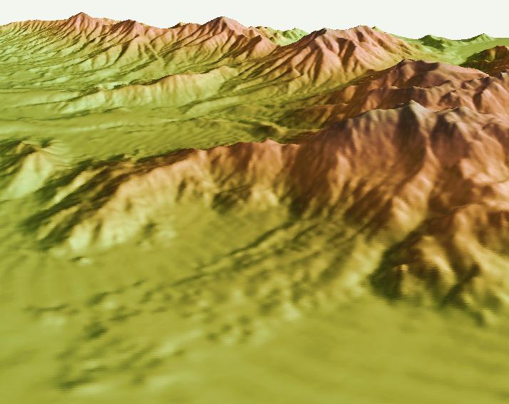 Figure 6. DEM of the Marcus Landslide.