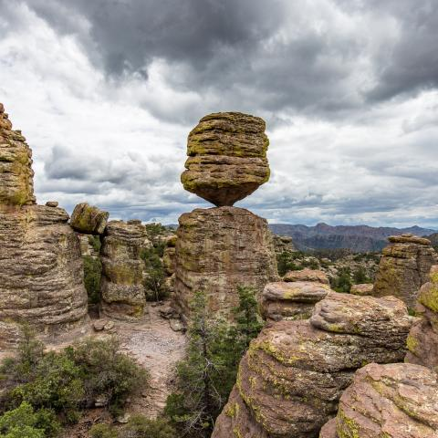 volcanic tuff, Precarious Rock