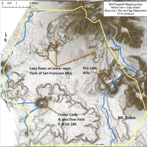 LiDar, volcanic terrane, Flagstaff