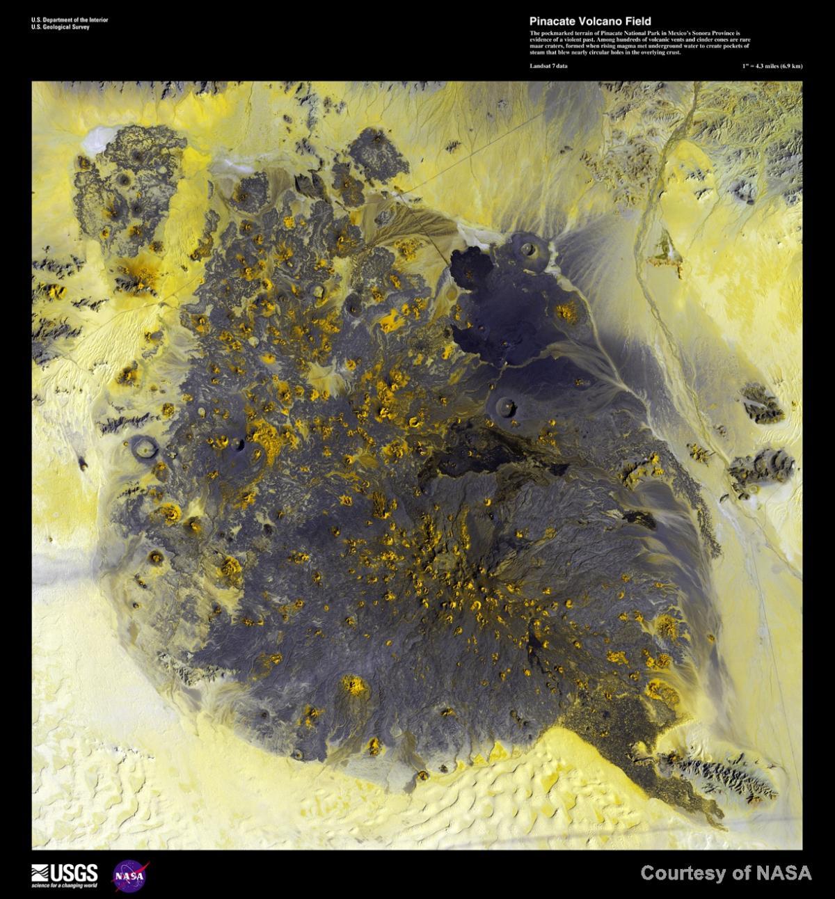 NASA, Pinacate, cinder cones