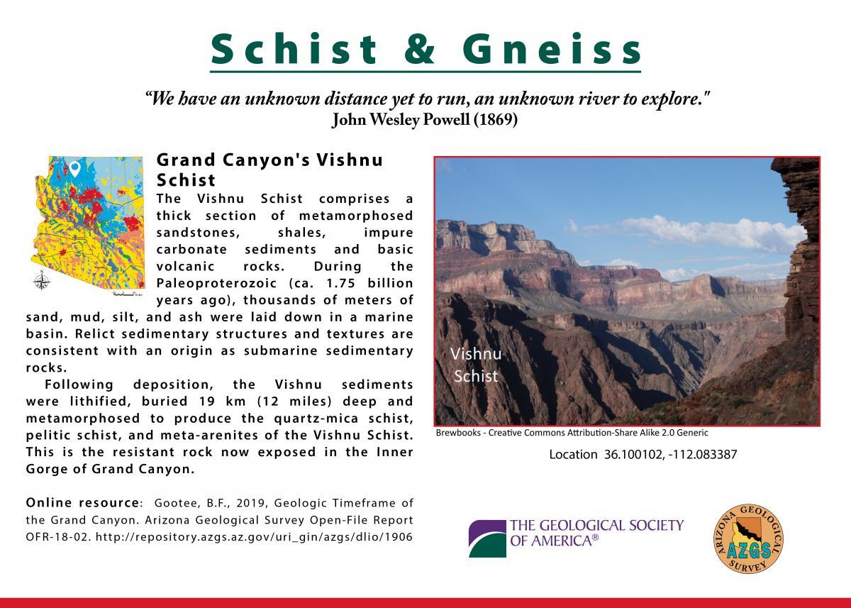 Vishnu Schist postcard