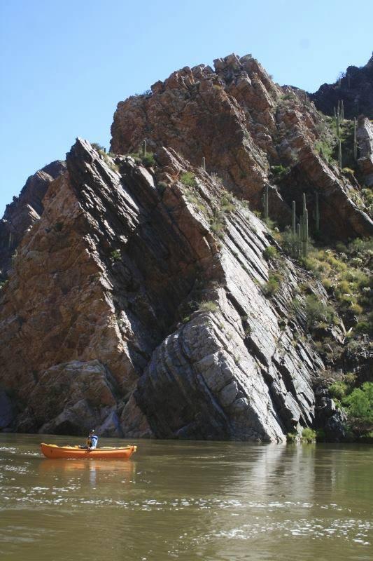 Tilted Rocks Of Salt River Canyon Azgs