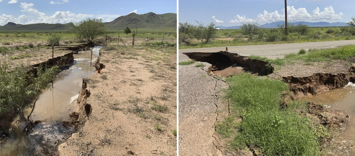 Fissures in Cochise County, Arizona. Aug 2021