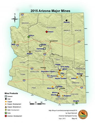 Major Mines of Arizona 2015 compiled by Nyal Niemuth