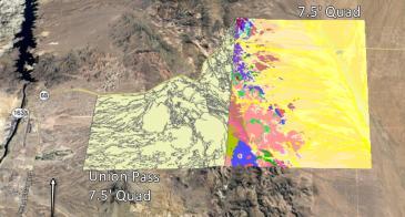 Geologic map footprints on Google Earth